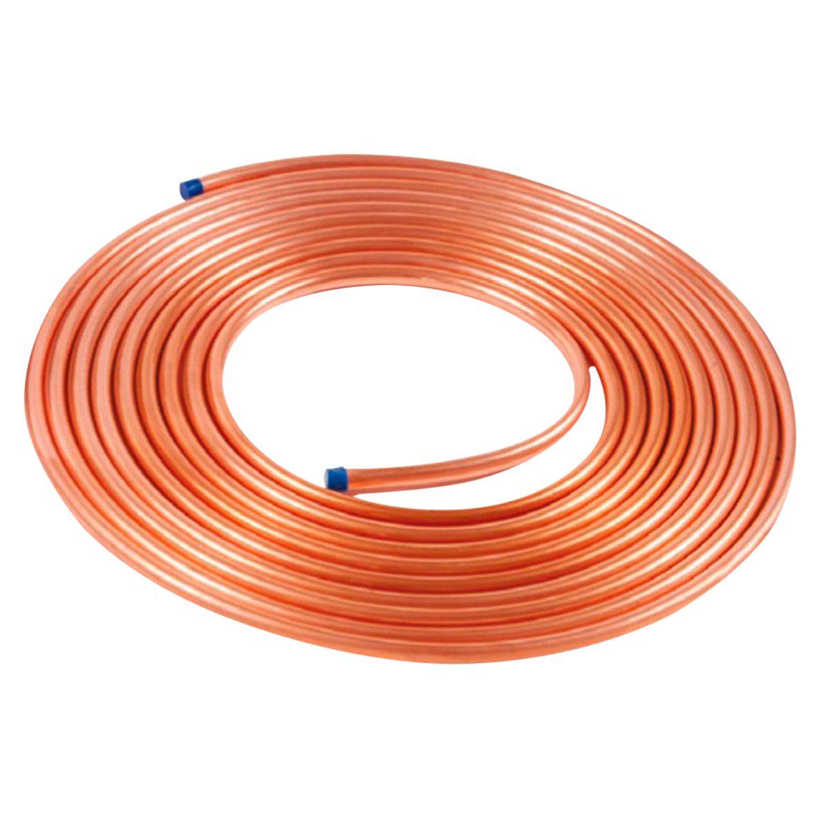 Tubo de cobre 5/8 flexível Bobina Contínua 0,337GR p/ metro